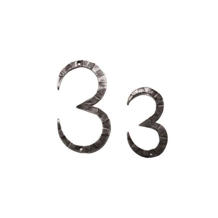 "Кованая цифра ""3"" 15 см"
